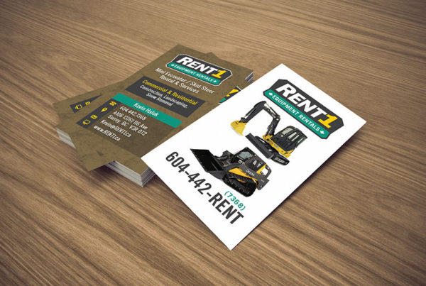 Rent1 Business Card Design