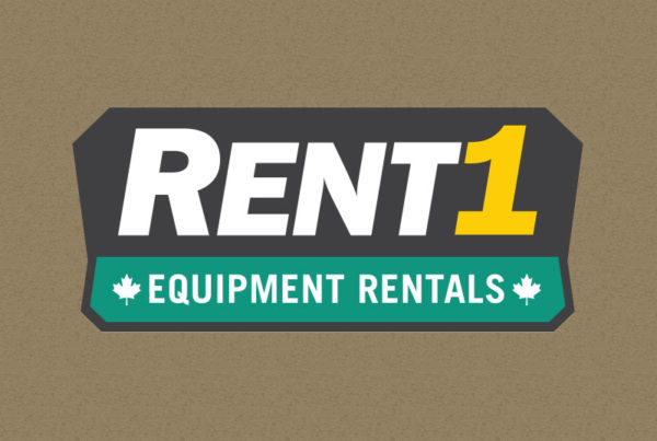 RENT1 Equipment Rentals Logo Design