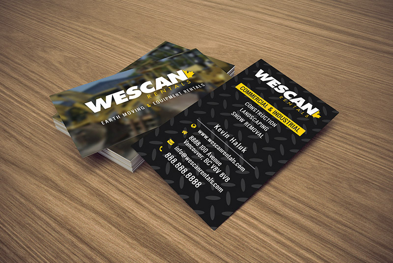Wescan rentals business card vancouver web designer front end wescan rentals business card colourmoves